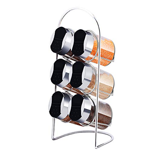 BIANJESUS Cocina Rack Holder Condiment Box 7 Piezas Set of Seasoning Bottle...
