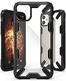 【Ringke】iPhone 11 ケース iPhone11 6.1インチ スマホケース ストラップホール [米軍MIL規格取得] クリア 透明 落下防止 カバー Qi ワイヤレス充電対応 iPhone XI ケース Fusion-X (Black ブラック)