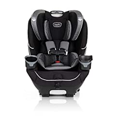 10 YEARS OF USE: The Evenflo EveryFit 4-in-1 Convertible Car Seat offers protection for up to 10 years! The EveryFit is an infant, convertible, high-back booster, and no-back booster seat to provide safety and longevity for your growing child. The fo...