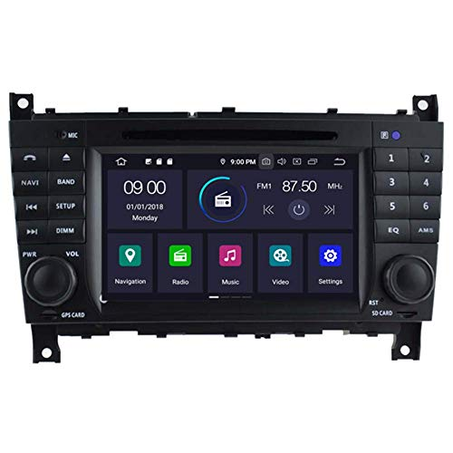 Android 10 Car DVD GPS Radio Estéreo Unidad Principal Navegación 64GB BT 4GB Ram WiFi para Mercedes Benz W203 W209 W463 200 - -2012 Bluetooth Steeirng Wheel Control