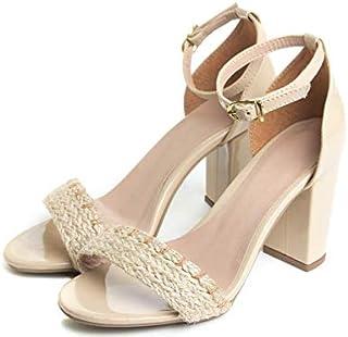 sandália feminina salto bloco