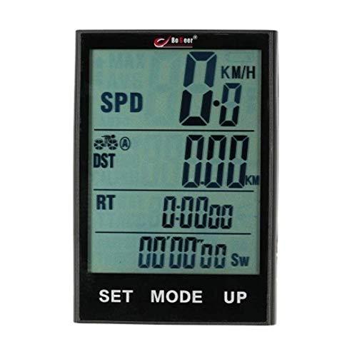 ZSM Bici Computer Bike Computer Bicycle Speedómetro Temperatura Temperatura Resistente al Agua para el Ciclismo Ciclismo Ordenador (Color: Negro, Tamaño: Un tamaño) YMIK