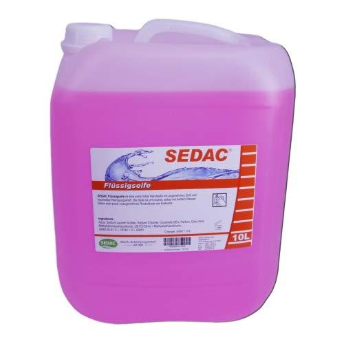 SEDAC Flüssigseife 10L Nachfüll-Kanister | Handseife zum täglichen händewaschen, ideal für Spendersysteme und Seifenspender