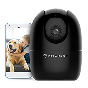 Amcrest 1080P WiFi Camera Indoor Nanny Cam Dog Camera Sound & Baby Monitor Human & Pet Detection Motion-Tracking w/ 2-Way Audio Phone App Pan/Tilt Wireless IP Camera Night Vision Smart Home