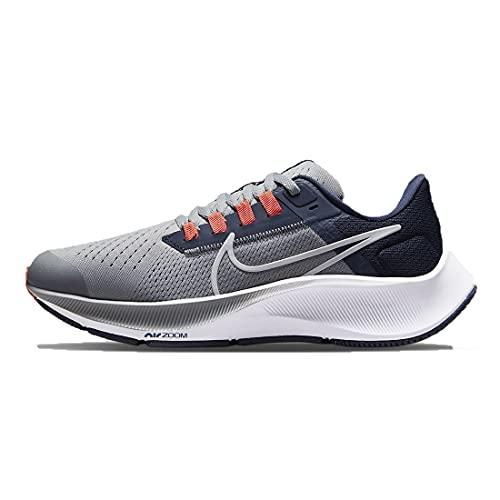 Nike Air Zoom Pegasus 38, Scarpe da Ginnastica, Black/White-Anthracite-Volt, 35 EU