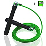 Waxo Heavy Rope - Corda per Saltare Professionale Lunghezza Regolabile - Perfetta per Double Unders - Ebook Incluso - Crossfit wod Boxe Fitness - Cavo e Cuscinetti in Acciaio