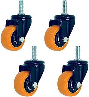 Set van 4 Swivel Metalen Caster Dubbele Kogellager Mute Geel voor Karren Trolley Werkbank Grootte Naam: 4 inch Kleur Naam:...