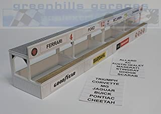 Greenhills Scalextric Slot Car Building Kit American Pit Boxes 1:32 Scale MACC385