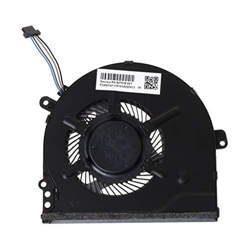 JOYKK Vervangen Metalen Laptop CPU Koeling Ventilator Compatibel Met Voor 15-CC 15-CC708tx 15-CC715TX 15-CC710TX TPN-Q191 CPU Koeler 927918-001 - Zwart