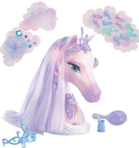 Barbie G8409 - cabeza de caballo de pelo