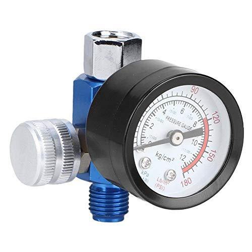 Compressore daria G1/4 Regolatore di pressione in lega di alluminio Strumento per pistola a spruzzo regolabile per compressore daria e utensili pneumatici