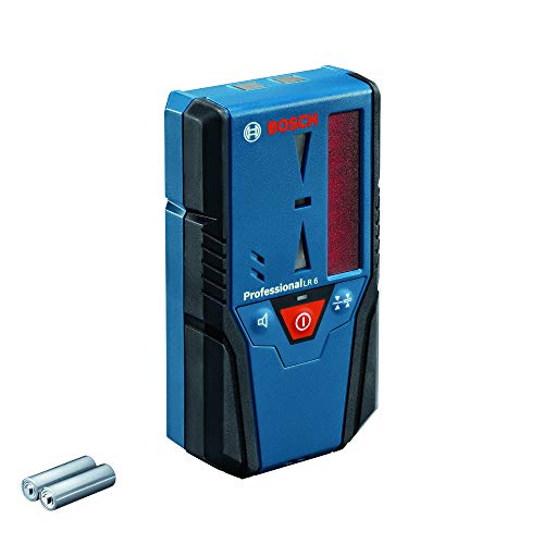 Bosch Professional Laserempfänger LR 6 (roter Strahl, 2 x AAA Batterien, Reichweite: 5 - 50 m)