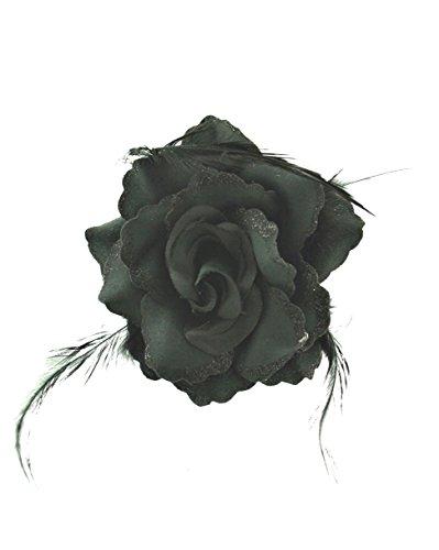 ZAC de Alter Ego® Superbe fleur à paillettes rose avec plumes sur Concord Clip
