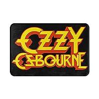 Ozzy Osbourne オジー・オズボーン ロゴ 玄関マット フロアマット バスマット 泥落とし 滑り止め 厚手 屋外 インテリア 洗濯 台所 洗濯室 キッチン ホテル レストラン 部屋 対応 長方形 洗える フランネル 吸水 速乾 抗菌防臭 フローリング オールシーズン適用