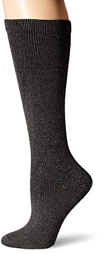 Dr. Scholl's Women's Travel Knee High Socks with Graduated Compression, Charcoal Heather, Shoe Size: 8-12