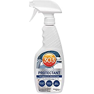 303 (30340) Marine UV Protectant Spray for Vinyl, Plastic, Rubber, Fiberglass, Leather & More - Dust and Dirt Repellant - Non-Toxic, Matte Finish, 16 Fl. oz.