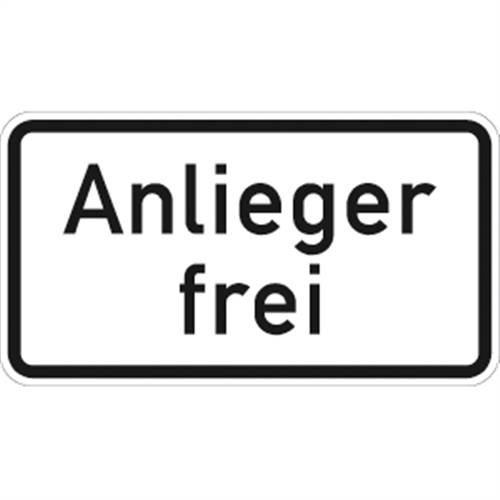 ORIGIANL Verkehrszeichen Nr 1020-30 Anlieger frei Verkehrsschild Straßenschild