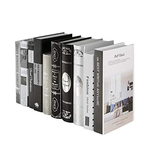 Healifty Libro Decorativo imitación Libro Foto Prop para Oficina Mesa Bar Tienda de té decoración