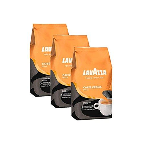 3 x 1 Kg Lavazza Caffecrema Dolce Kaffee Bohnen