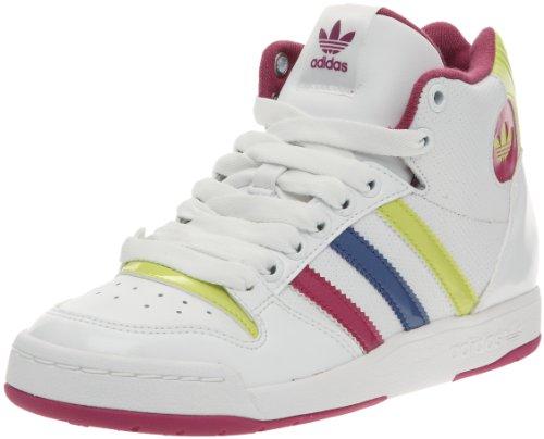 Adidas ORIGINALS Midiru Court Mid W, Baskets Mode Damen, Weiß - Weiß - Blanc/Violet/Argent - Größe: 39
