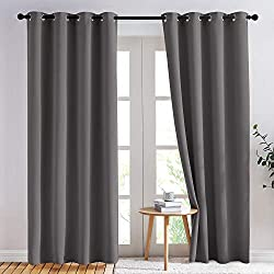 nicetown three pass microfiber noise reducing blackout curtains see on amazon - Best Soundproof Curtains
