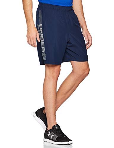 Under Armour Under Armour Herren Kurze Hose Woven Graphic Wordmark Shorts, Blau, LG, 1320203-408
