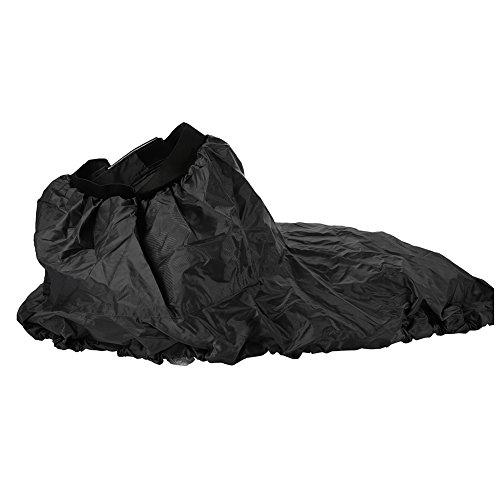 Keenso Kajak Spritzdecke, Verstellbarer Kajak Sprührock Nylon Kajak-Sprührock mit Gummiband wasserdichte Abdeckung Wassersportzubehör für Länge von 90 bis 95 cm; breit 50‑55cm(Schwarz)