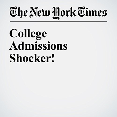 College Admissions Shocker! audiobook cover art