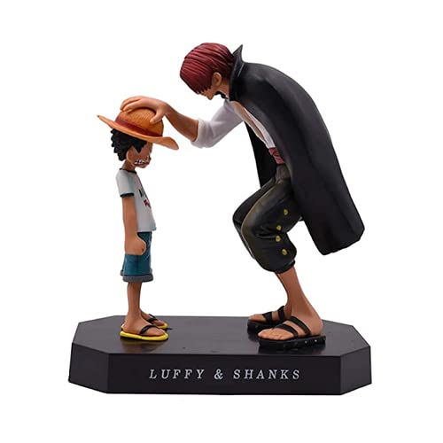 Anime One Piece Monkey D. Luffy Figure Four Emperors Redhead Shanks Toy Action Figure Model Figure Gift Decoration