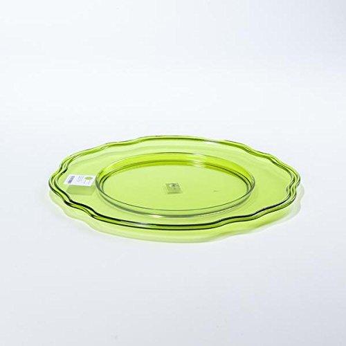 Baci–Placa de Servicio de acrílico, Color Verde Lima, 33cm