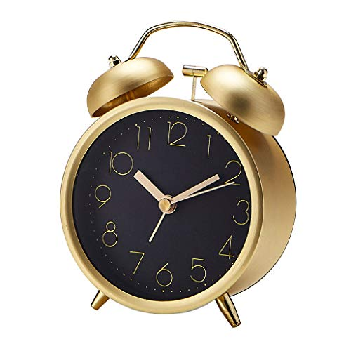 zlw-shop Grandfather clocks Classic Silent Portable Alarm Clock Fashion Cute Metal Alarm Clock Creative Mute Digital Alarm Clock desktop clock clocks