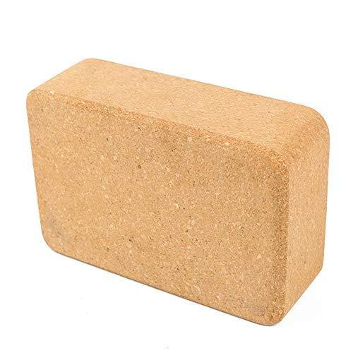 unknow Rlmobes 1 bloque de yoga antideslizante de corcho natural único bloque de ladrillo de yoga mejora la estabilidad y la alineación