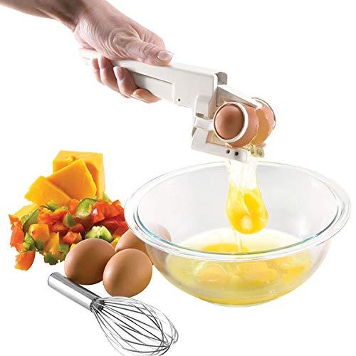 Egg Cracker And Separator - Egg Seprarator - Egg Cracker Handheld Separator