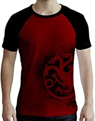 ABYstyle - Game of Thrones - Camiseta - Targaryen - Hombre - Rojo y Negro
