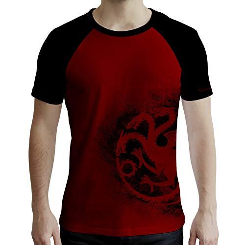 ABYstyle - Game of Thrones - Camiseta - Targaryen - Hombre - Rojo y Negro (XL)