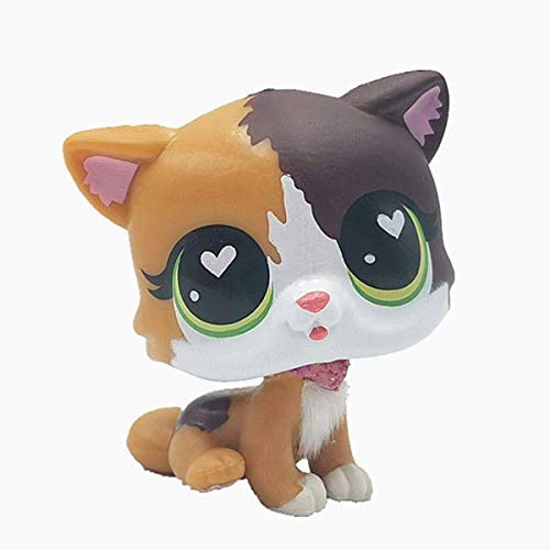 N/N Littlest Pet Shop, LPS Toy Cute Animal Pet Big Eye Shorthair Cat Collection Child Girl Boy Figure Toy