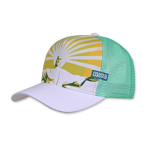 COASTAL - Rio (white/green) - High Fitted Trucker Cap