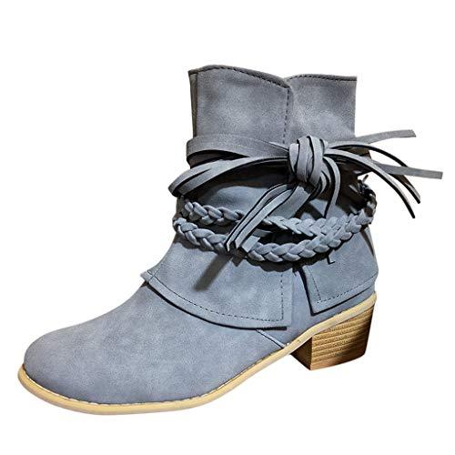 Allence Stiefel Damen Frauen Retro Style Zipper Winter Kurze Boots Schneeschuhe Kurzschaft Stiefel Größe 35-43