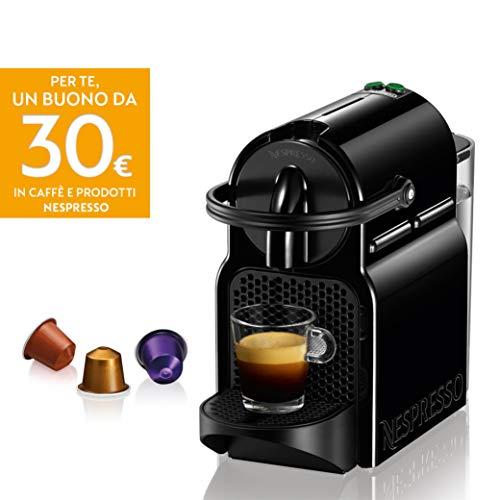 De'Longhi Nespresso Inissia EN80.B Macchina per caffè espresso, a capsule, 1260 W, 14 Decibel, 19 bar, Nero