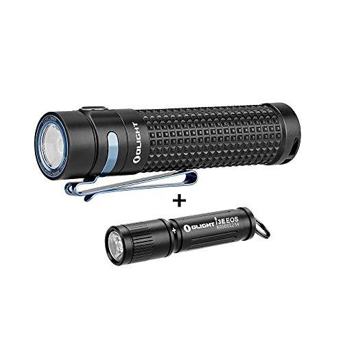 OLIGHT S2R II 1150 Lumens USB Magnetic Rechargeable Variable-output Side Switch EDC LED Flashlight, 90 Lumens i3E EOS PMMA TIR Lens AAA Flashlight Compact Keychain Flashlite EDC Flashlight