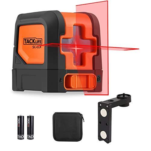 Livello laser 15M, Misuratore a Infrarossi Orizzontale e Verticale, Laser a Croce Autolivellante, Livella Laser Autolivellante, Base magnetica 360 Gradi Rotante, IP54, SC-L01
