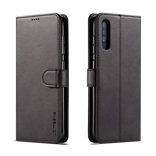 Hülle Samsung Galaxy A70 A70S Handyhülle Hülle Samsung A70 A70S Klapphülle Hülle Schutzhülle Magnetic Closure Handy Ständer Leather Wallet Hülle Schwarz Hülles Cover Samsung A70 A70S Hüllen Hülle