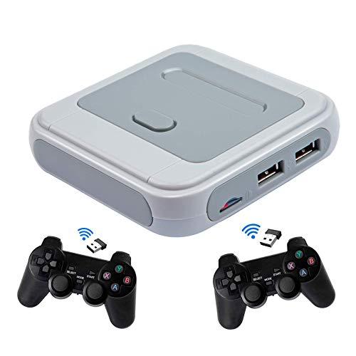 Reproductor De Videojuegos Super Console X 30000+ Juegos Retro, Admite Más De 50 Emuladores, Salida WiFi HDMI con Tarjeta TF De 64G / 128G / 256G Y 2 × Controladores Inalámbricos,128G