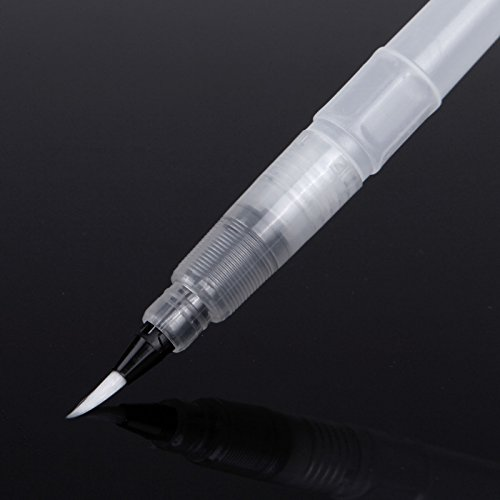 KABEER ART 1 Piece White Refillable Water Brush Pen for Watercolor Painting & Various Other Purpose