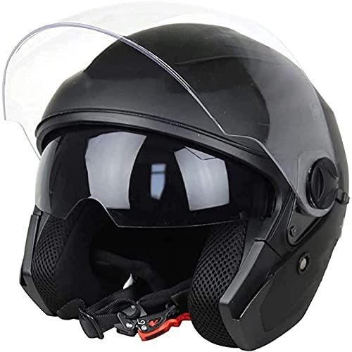 Casco Moto Jet con Doble Visera,Casco Moto para Mujer Hombre Adultos Baratos...