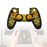 Yosoo Health Gear Funda Protectora de Silicona, Funda Protectora Antideslizante para el Controlador Playstation 4 PS4(Amarillo)