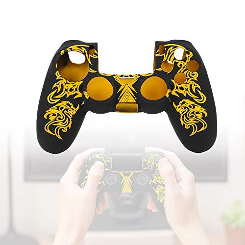 Yosoo Health Gear Silikon-Schutzhülle, rutschfeste Controller-Schutzhülle für Playstation 4 PS4-Controller(Gelb)
