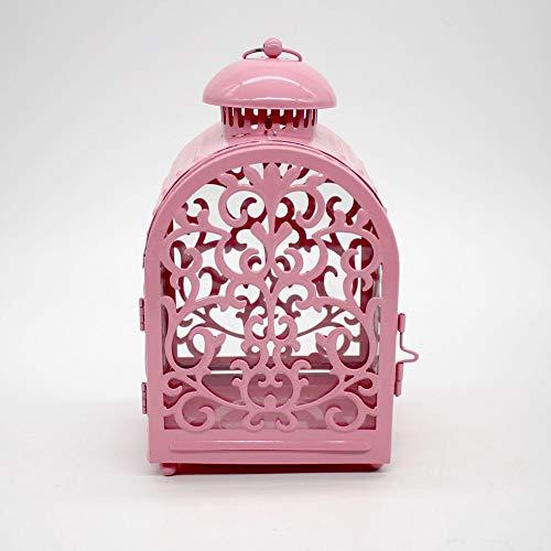 Yiwa Hoge kandelaar ijzer lantaarn windlicht kandelaar decoratie huis decoratie bruiloft