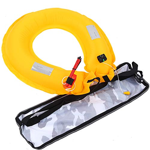 01 Cinturón Inflable, Cinturón Inflable Manual Tubo Rojo para Carga Manual de Aire para navegar para Pescar(White Camouflage, 12)