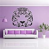 stickers muraux autocollant mural Motif tête de tigre pas cher le roi de la jungle Stickers